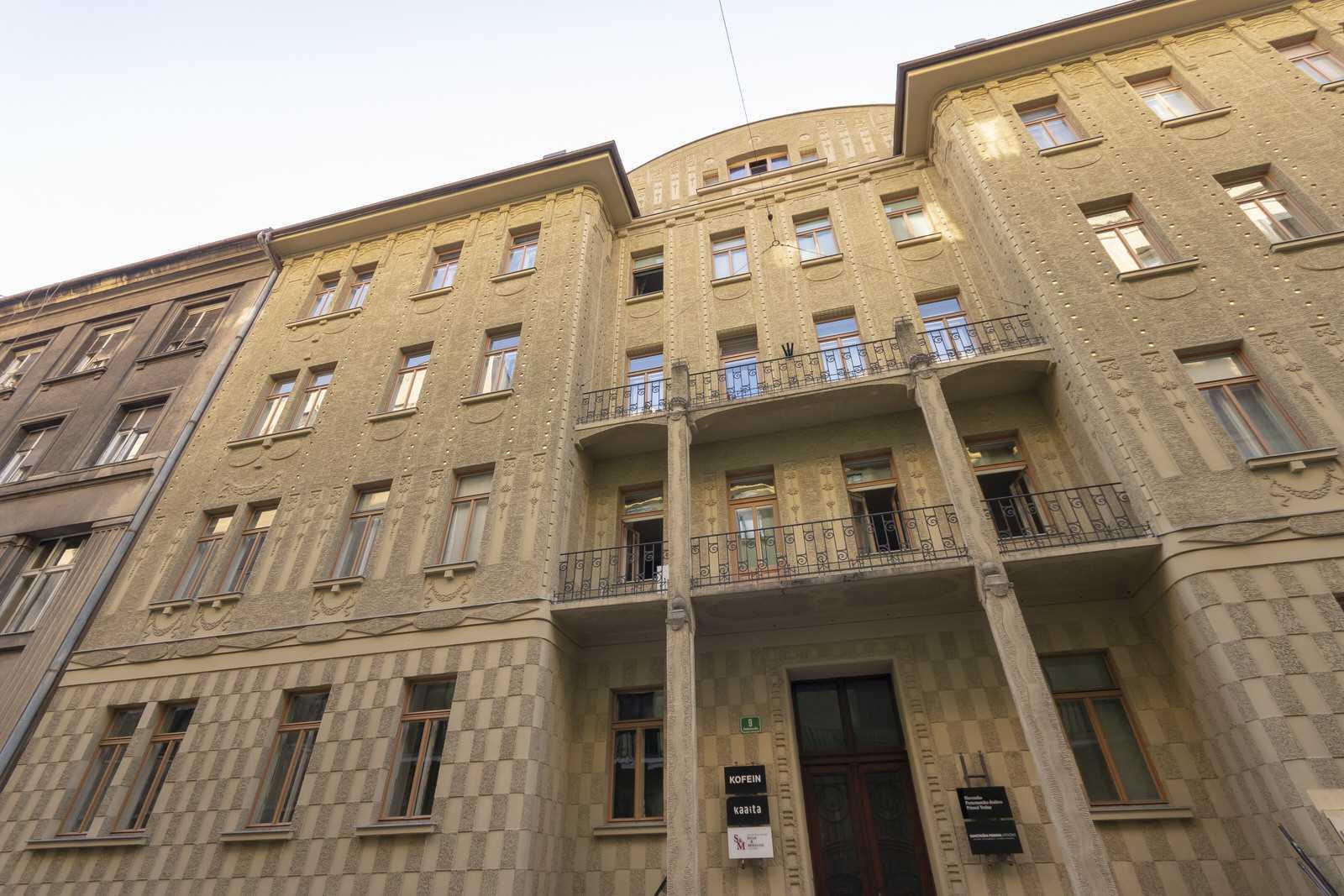 Ljubljana 2-bedroom Beethovnova apartment's building