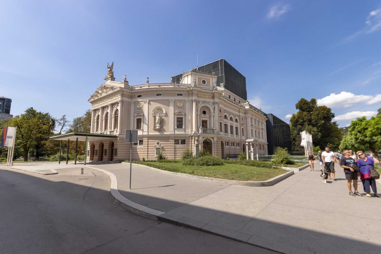 Opera house of Ljubljana close to 2-bedroom apartment Ljubljana Beethovnova