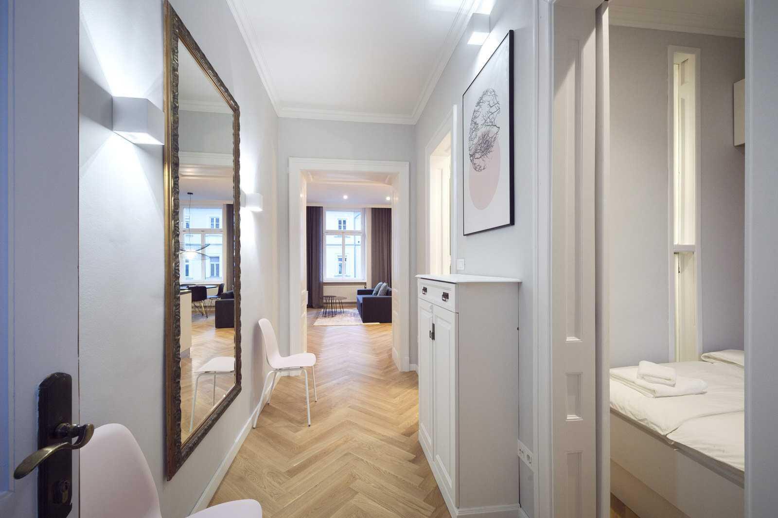 Entrance hallway of Ljubljana rental apartment