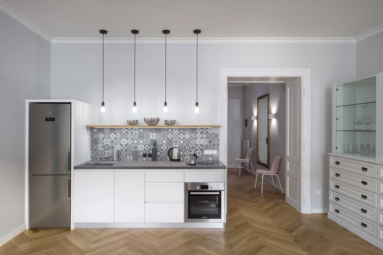 Hallway toward bathroom and bedroom of Ljubljana rental apartment