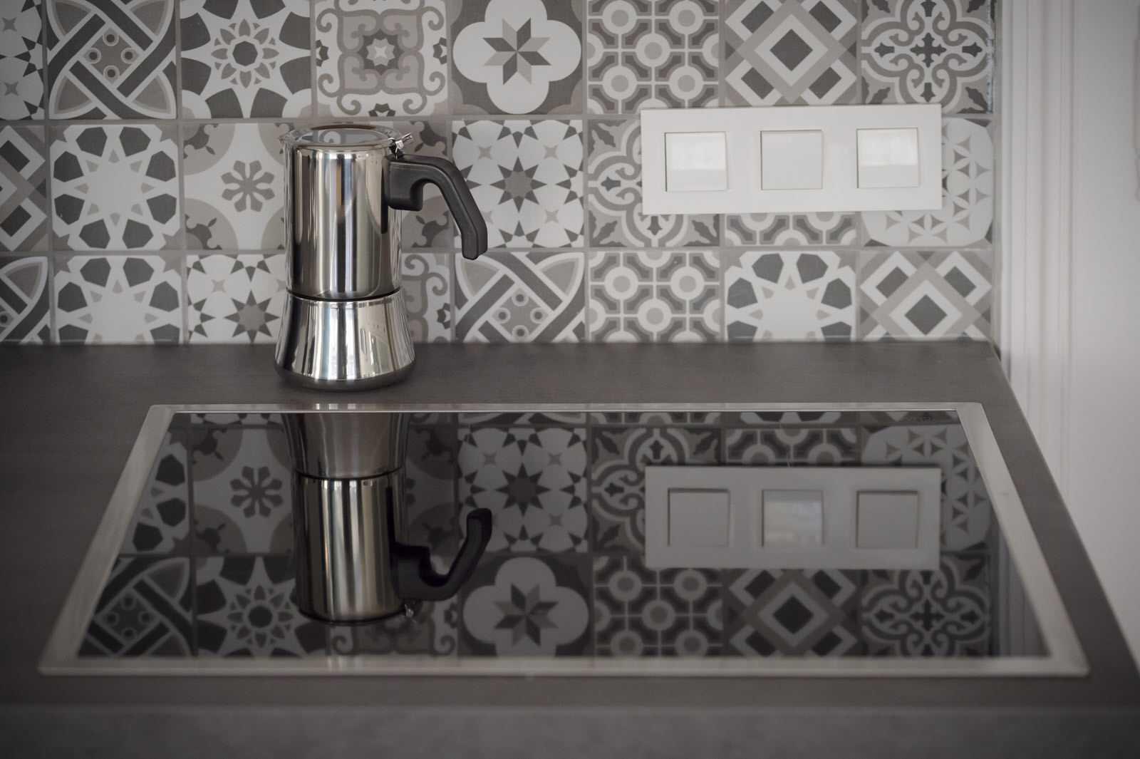 Fully-stocked, clean kitchen of Ljubljana rental apartment