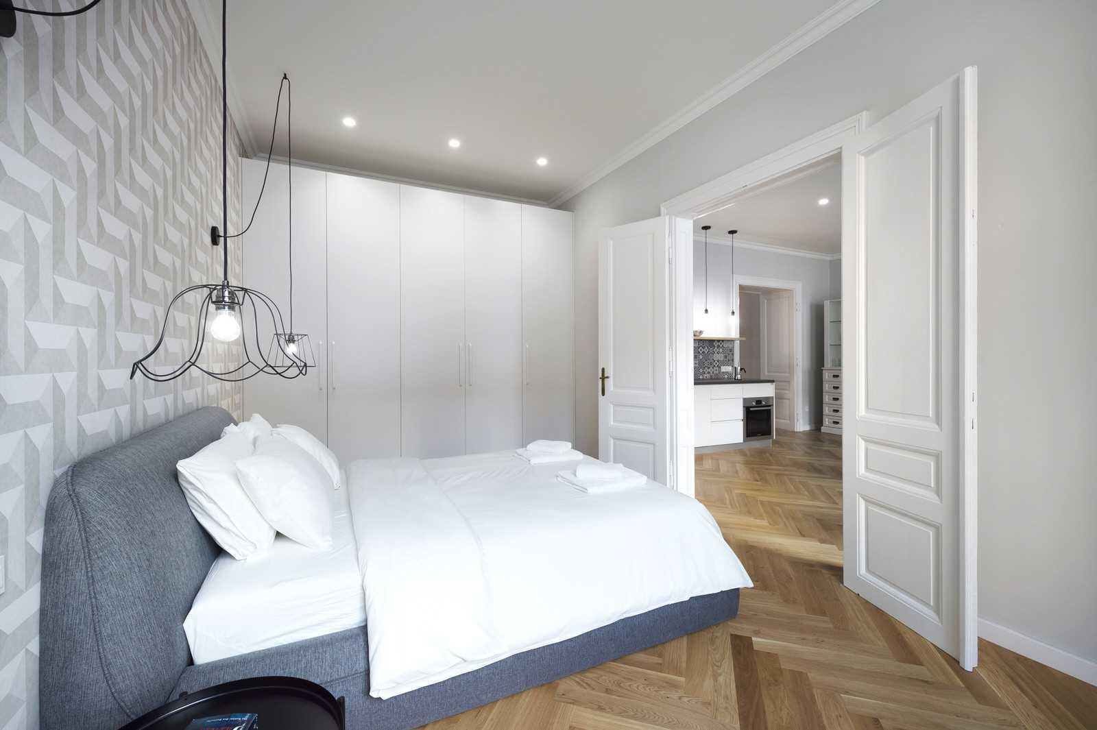 Clean and modern Master Bedroom in Ljubljana rental apartment
