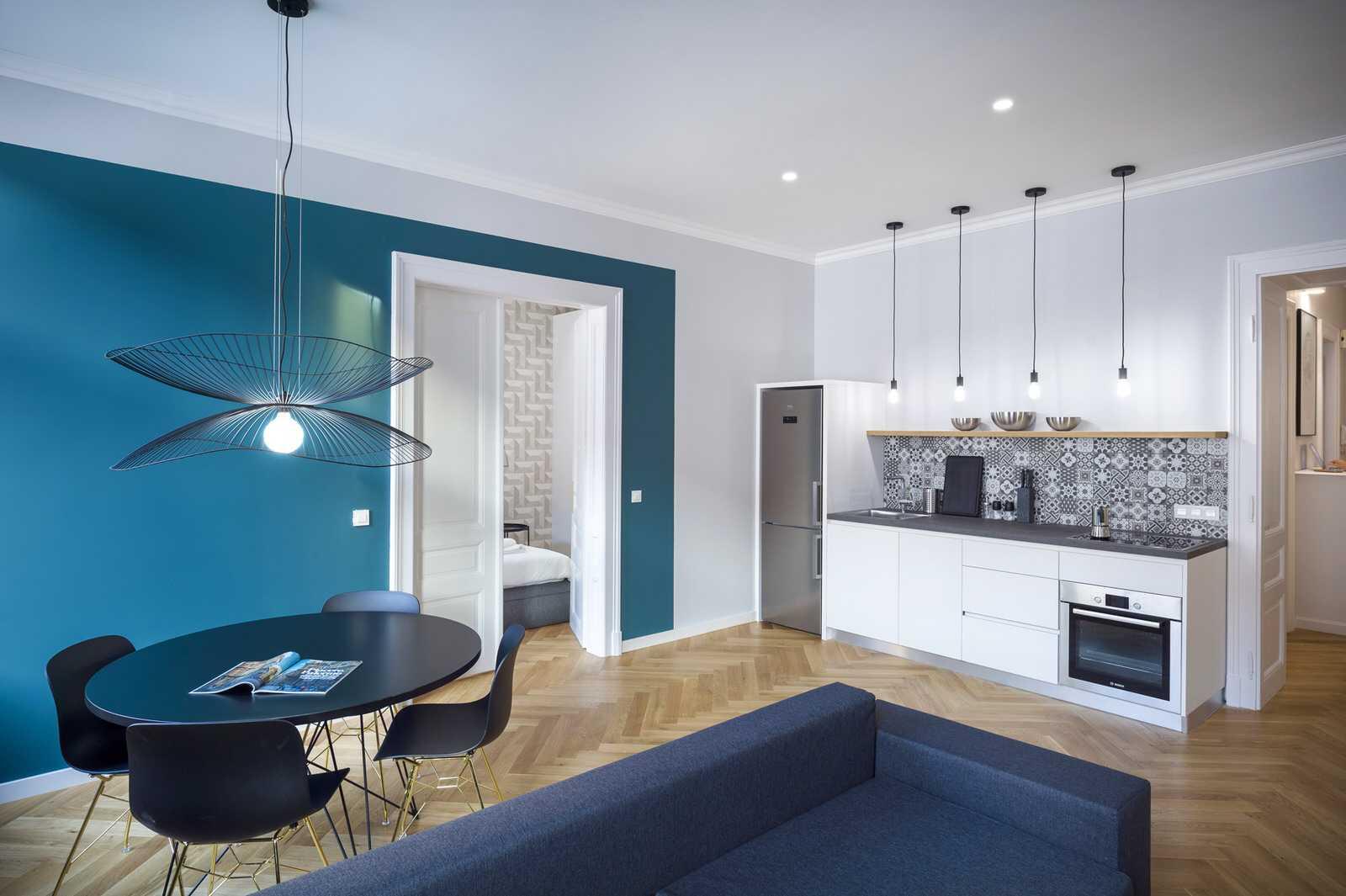 Modern and clean kitchen in Ljubljana rental apartment