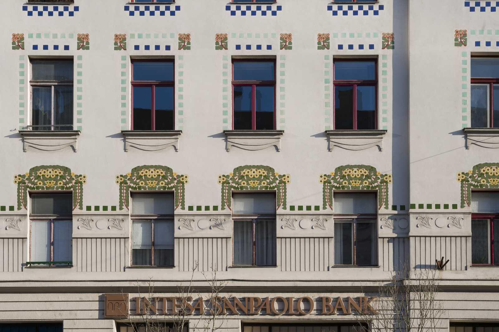 Detail around windows to Ljubljana rental apartment Trdinova