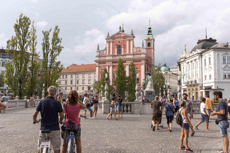 Prešeren square Ljubljana