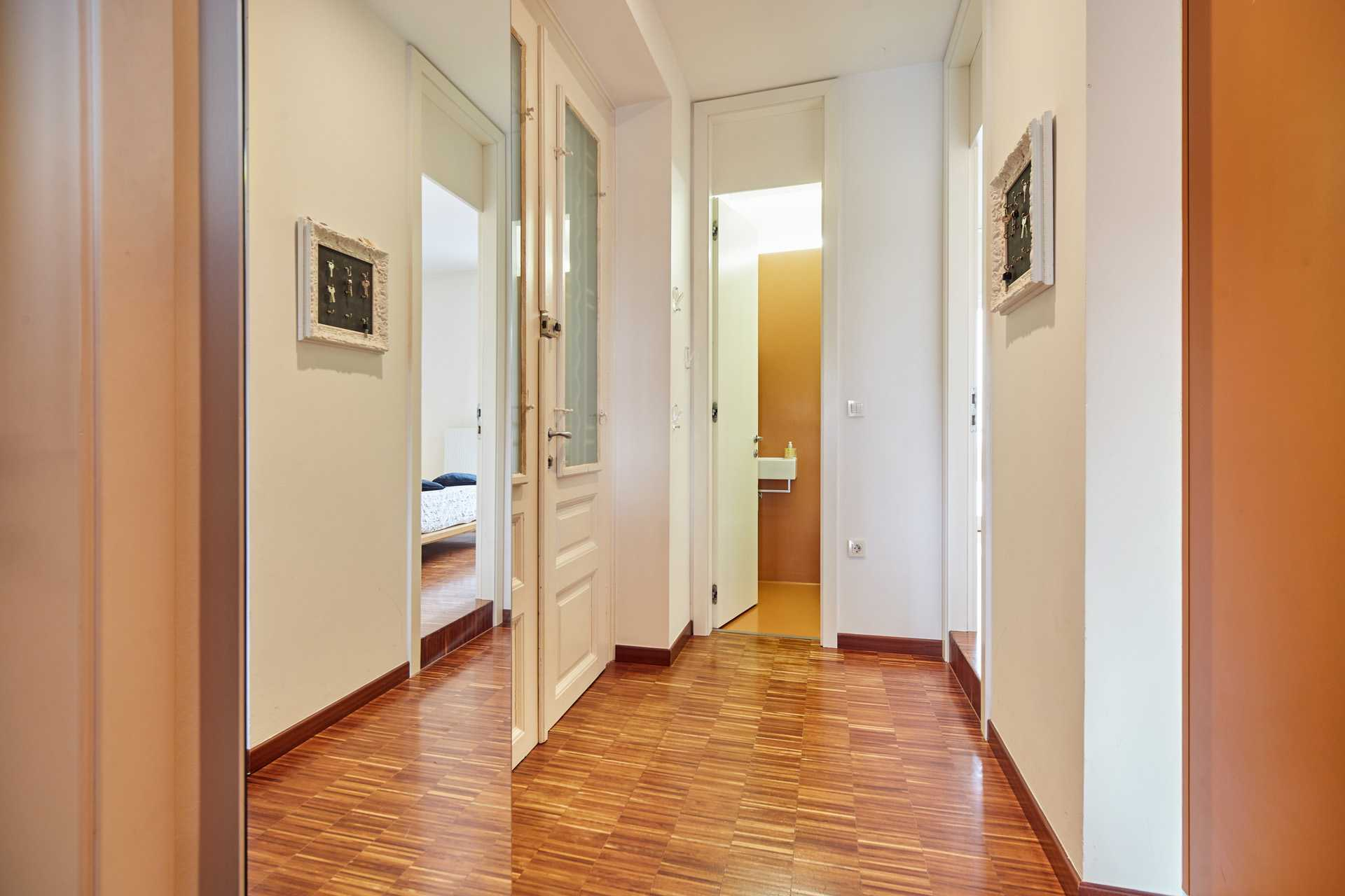 Ljubljana two bedroom apartment's entrance hall