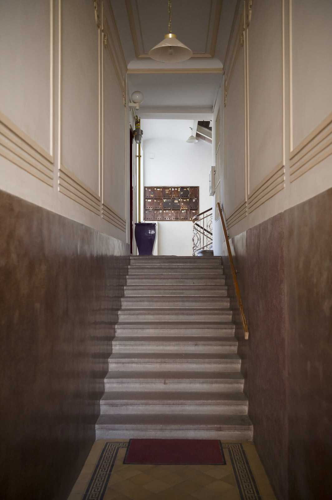 Entrance from the street, leading to staircase that goes to Ljubljana rental apartment