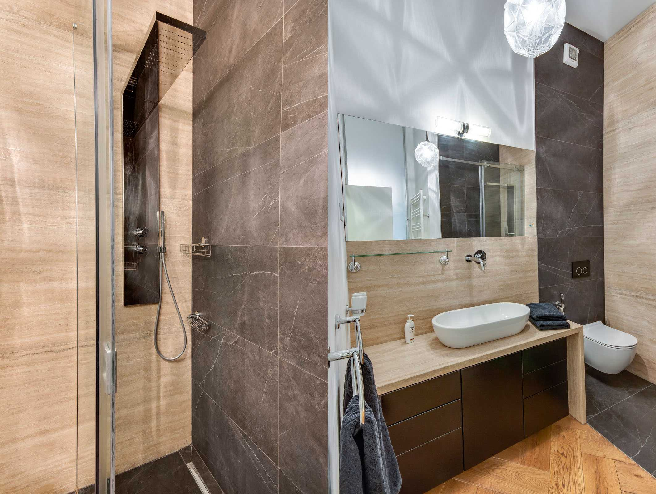 En-suit bathroom with a walk-in shower in the master bedroom.