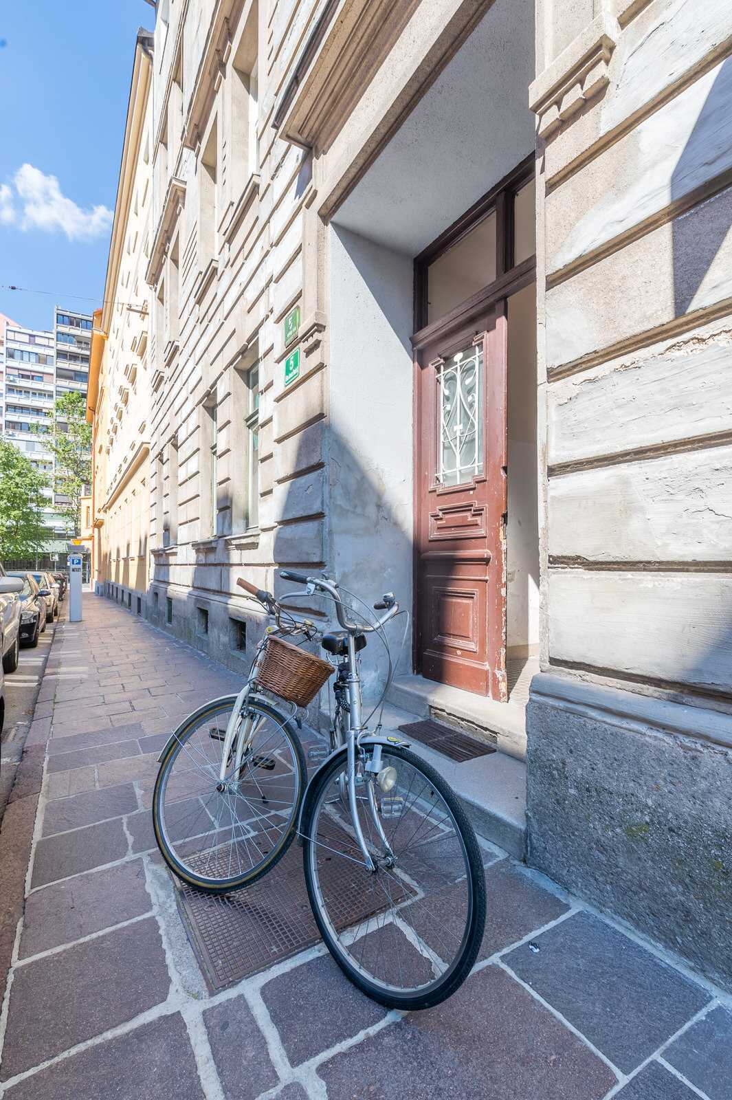 You can borrow one of the four bikes to explore Ljubljana like the locals.