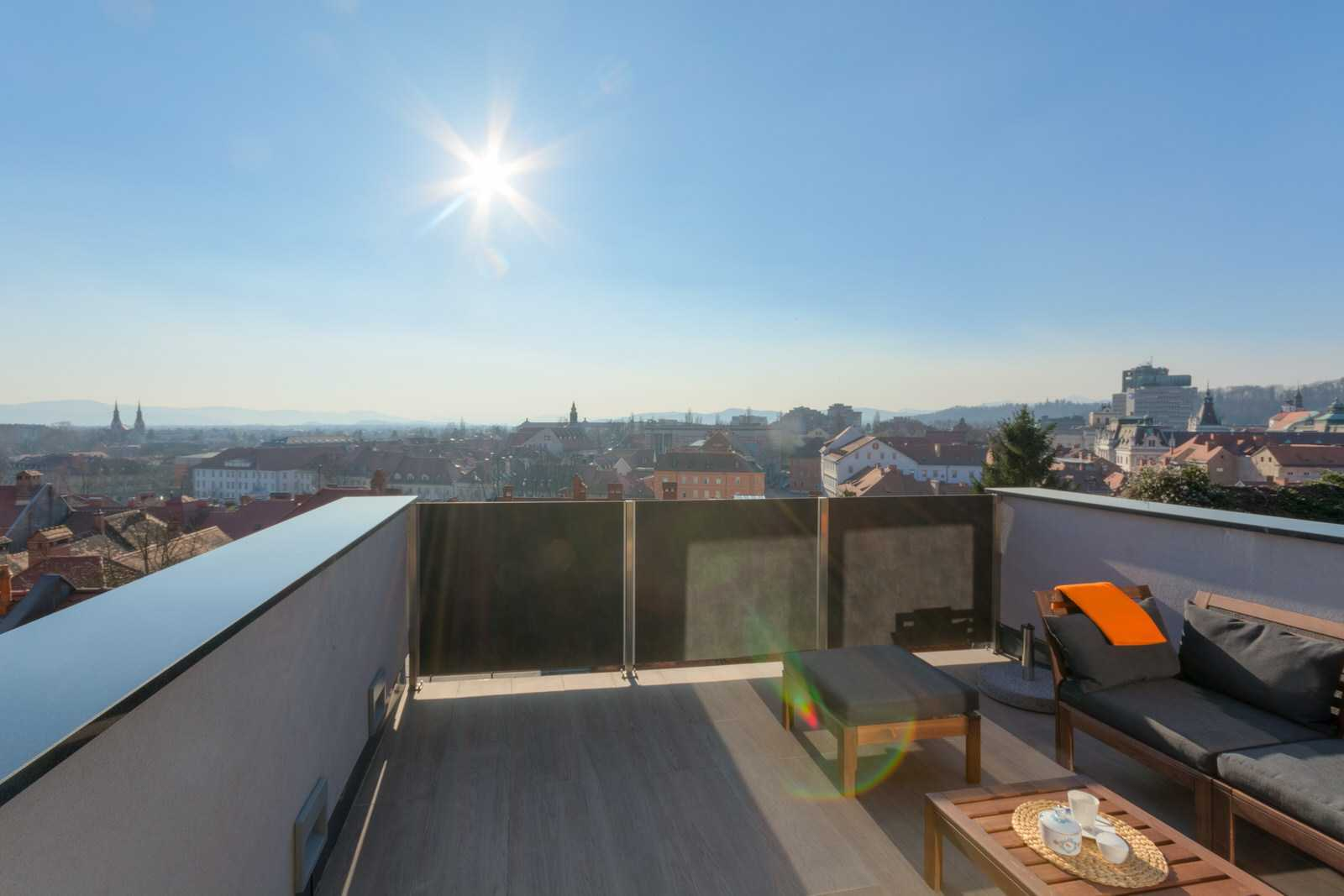 Watching the sun set over the city from the comfort of your own terrace is a special experience.