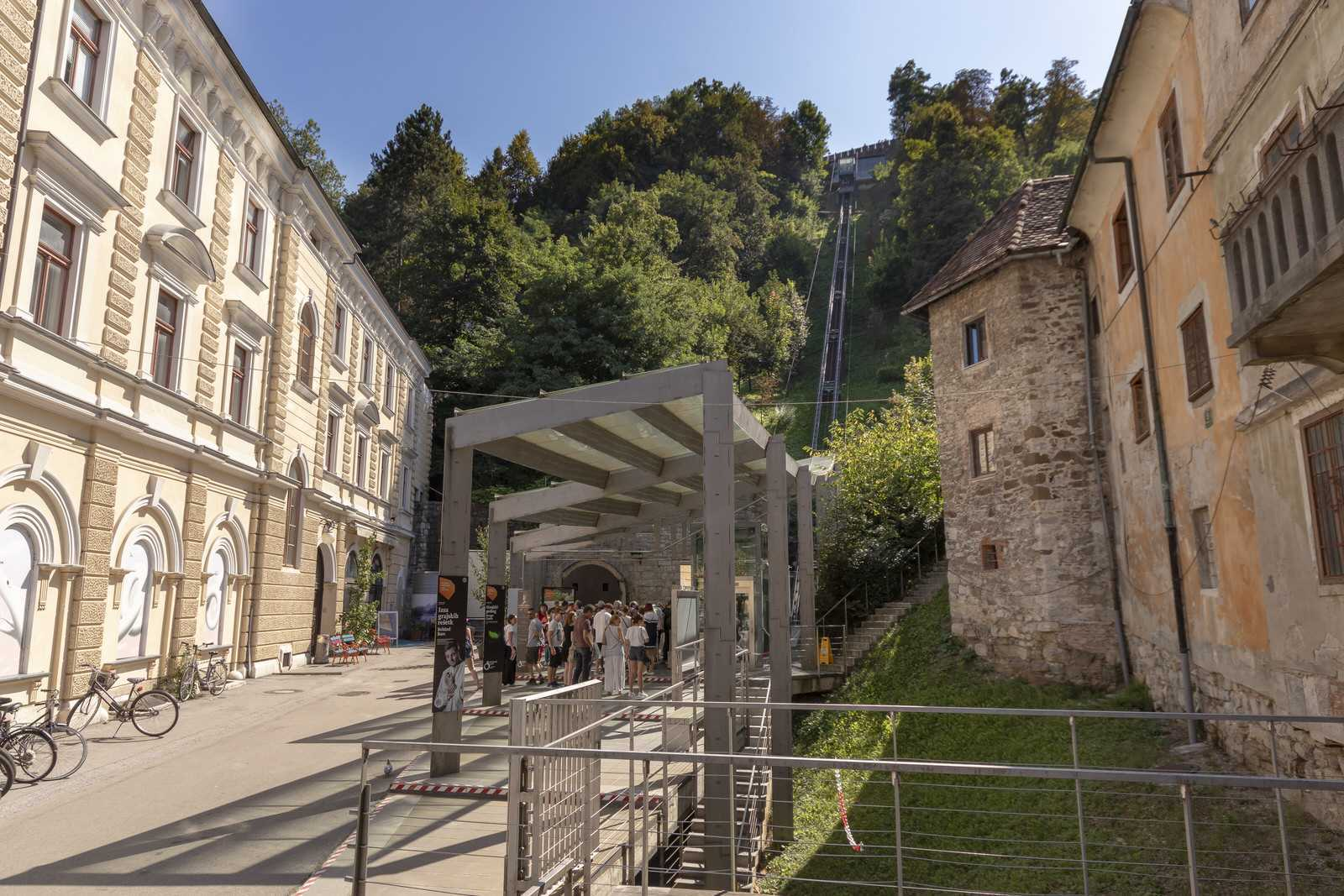 The funicular offers a spectacular view of the city while ascending the castle hill.