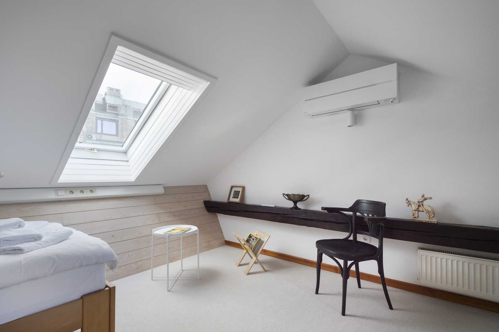 One of the bedrooms is in the loft.