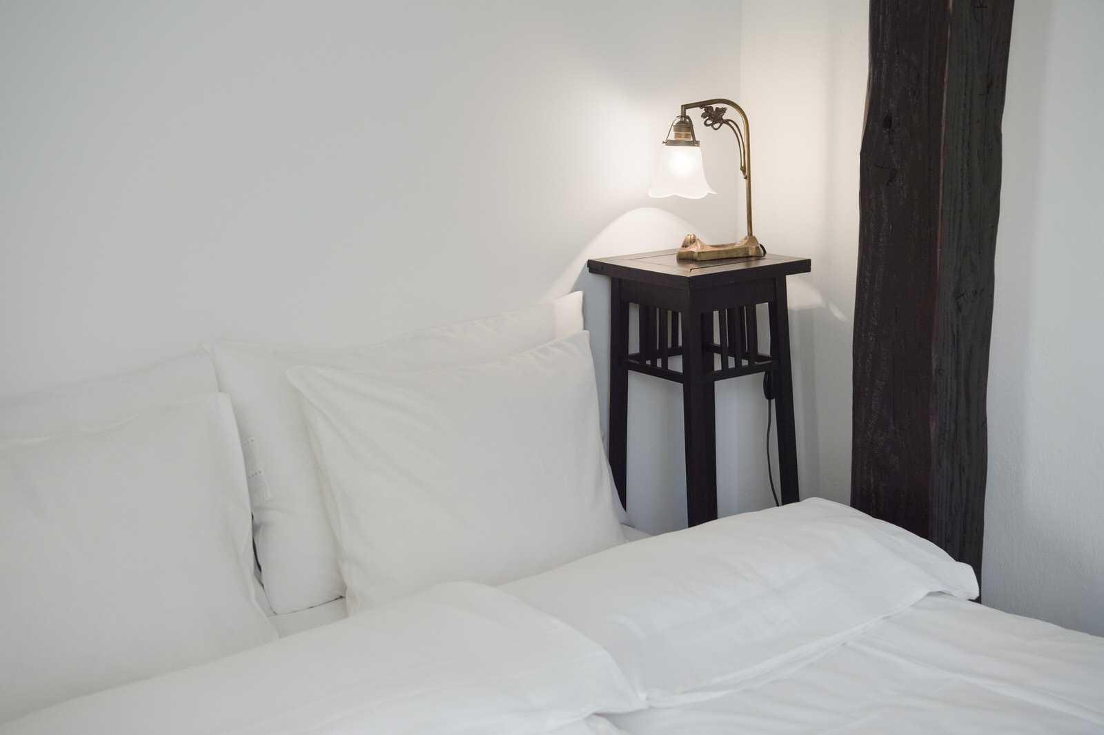 Relax in crisp white linen.