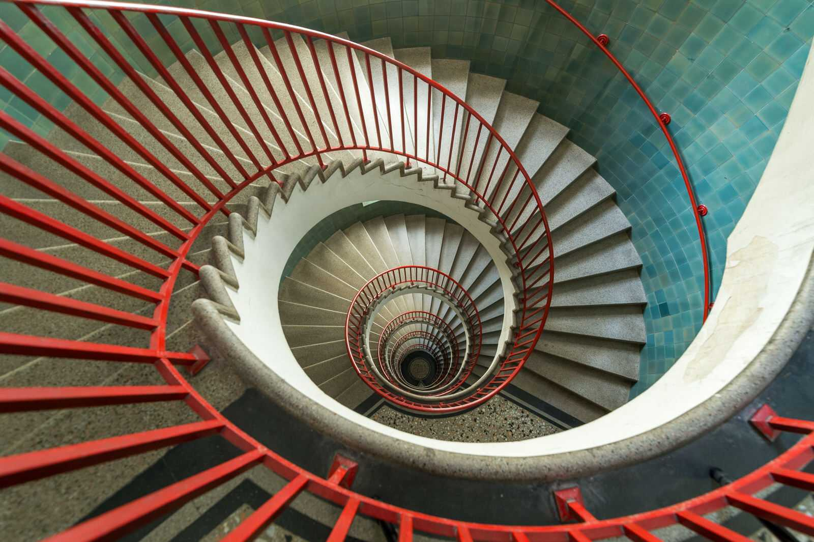 The apartment does have an elevator, but the staircase is a special experience nonetheless.