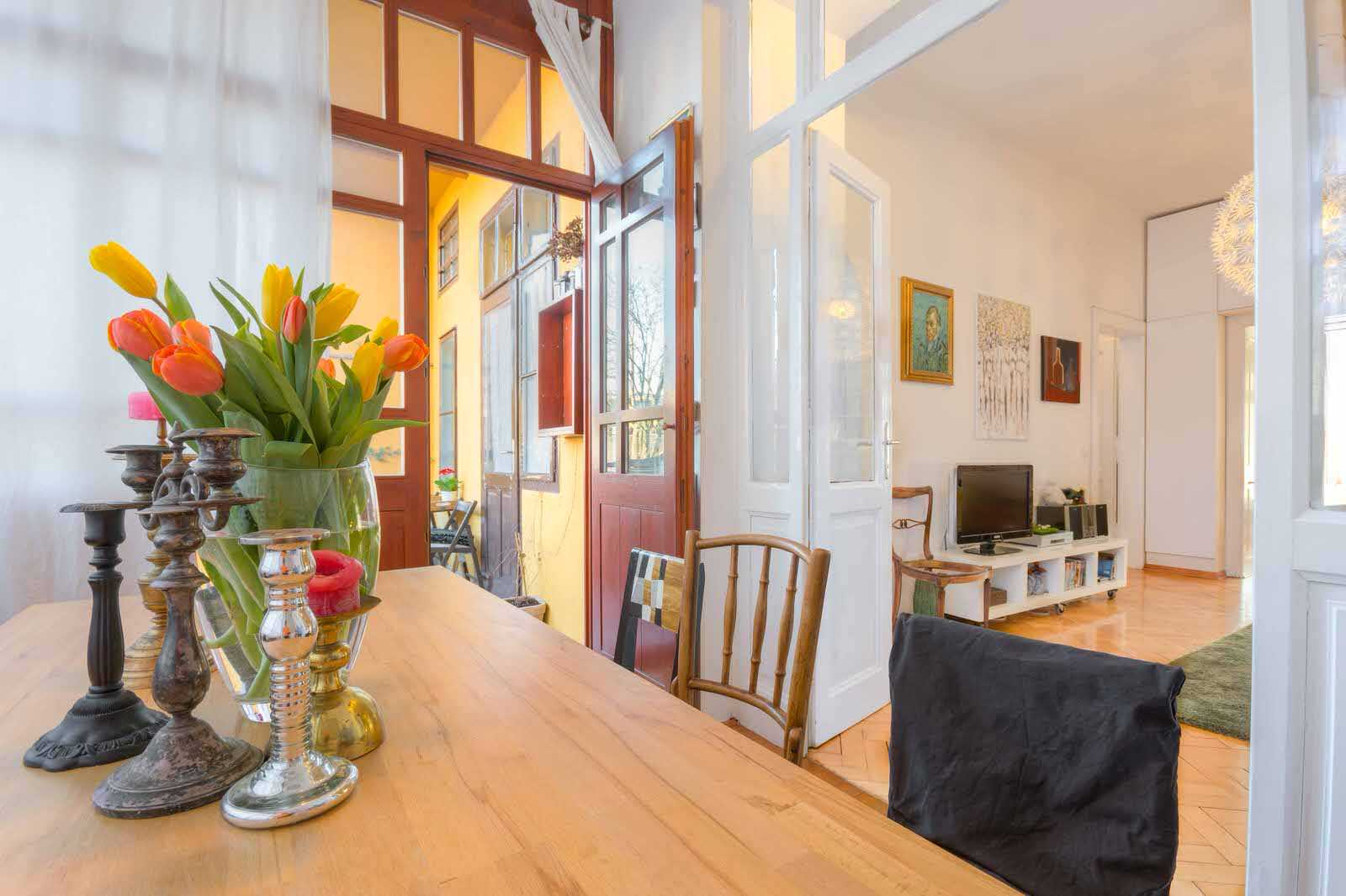 The dining room can accommodate up to eight persons for dinner so there's ample room for everyone staying in the apartment.
